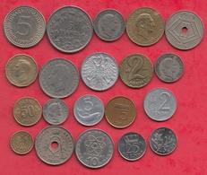 Autres-Europe 20 Pièces Dans L 'état (PRIX DE  DEPART  CASSE 0.015E  LA PIECE) Lot N °1(POIDS 96 GR) - Coins & Banknotes