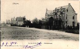 1 Oude Postkaart  EDEGEM  Edeghem   Statiestraat      Uitg   .Bongartz N°24 - Edegem