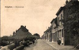 2 Oude Postkaarten   EDEGEM  Edeghem   Molenstraat    Nu Drie Eikenstraat - Edegem