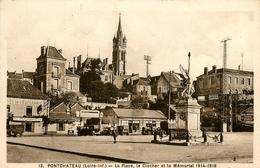 Pontchateau * La Place Le Clocher Et Le Mémorial 1914-1918 * Café De L'espérance * Garage Central - Pontchâteau