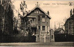 3 Oude Postkaarten   EDEGEM  Edeghem  Villa De Vlinderkens   Uitg.   Bongartz 1907  Zicht In Den Hof - Edegem