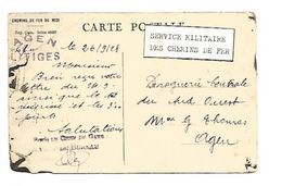 CACHET AGEN LITIGES CHEMINS DE FER DU MIIDI 1928 - Marcofilia (sobres)