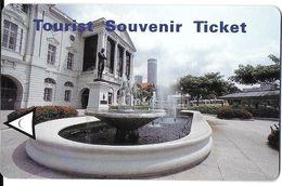 1 TICKET ASIE SINGAPOUR TOURIST SOUVENIR  POUR COLLECTIONNEUR - Bus