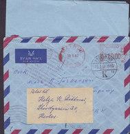 Belgian Congo Danish Shipsmail MATARDI 1962 Meter Cover Stempel Brief RETURN TO SENDER & REadressed HERLEV Denmark - 1947-60: Briefe U. Dokumente