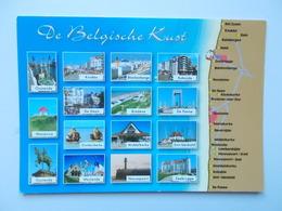 DE BELGISCHE KUST :Oostende, Nieuwpoort, Middelkerke, Knokke, Bredene, Zeebrugge.....  - NO REPRO - Belgique