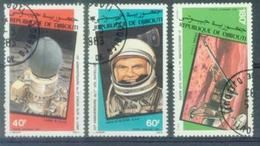 DJIB 1986 SPACE, REP DU DJIBOUTI , 2v, Used - Space