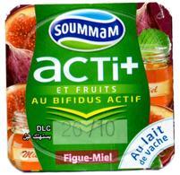 "Opercule Cover Yaourt Yogurt "" Soummam "" Acti + Figue Miel Honey Fig Yoghurt Yoghourt Yahourt Yogourt Old Design - Opercules De Lait"