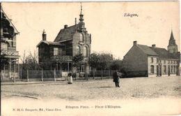2 Oude Postkaarten  1920 1921 Villas  EDEGEM  Edeghem   Edegem Plein Uitg.  Bongartz N°26 - Edegem