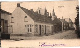 3 Oude Postkaarten      EDEGEM  Edeghem    Dorpstraat UItg. Hermans 1902  Katholieke Kring - Edegem