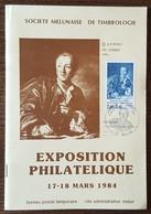 FDC 1984 - YT N°2304 - JOURNEE DU TIMBRE - MELUN - Exposition Philatélique - 1980-1989