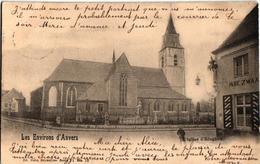 2 Oude Postkaarten  EDEGEM  Edeghem   Strijderstraat Café A La Belle Vue   Kerk    Uitg. Nels N°10  Café In De Zwaan - Edegem