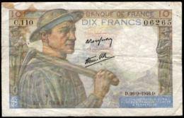 10 FRANCS MINEUR 26.9.1946 F:8/15 - 1871-1952 Anciens Francs Circulés Au XXème