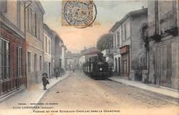33-LANGOIRAN- PASSAGE DU TRAIN BORDEAUX-CADILLAC DANS LA GRAND-RUE - France
