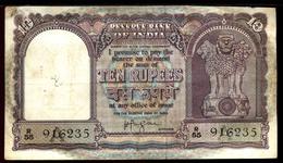 India  1938  10 Rupee Note Minor Folds VF--EF Scarce - Inde