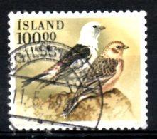 ISLANDE. N°651 Oblitéré De 1989. Bruant Des Neiges. - Songbirds & Tree Dwellers
