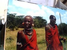 KENIA MASAI WARRIOR AND YOUTH V1965 GU3031 - Kenya