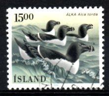 ISLANDE. N°600 Oblitéré De 1986. Pingouin. - Penguins