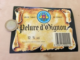 Etiquette « Vin De Table De France - Pelure D'Oignon - DF - Angoulême (16)» (blason, Ancre) - Vino Rosato
