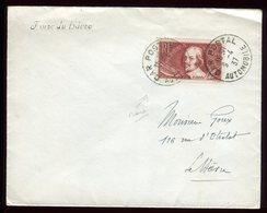 """Oblitération """" Car Postal Automobile """" Sur Enveloppe De La Foire Du Havre En 1937 - 1921-1960: Modern Period"""