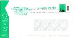 Enveloppe PAP Pret à Poster  Lettre Verte 20g France  Lot 119406 En-tête Côté Jardins - Entiers Postaux