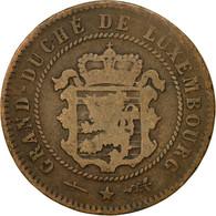 Monnaie, Luxembourg, William III, 5 Centimes, 1854, Utrecht, TB, Bronze, KM:22.1 - Luxembourg