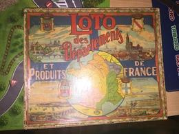 Vends Ancien  Jeu De LOTO Des Années 50 Avec Les Anciens Départements ( Algérie, Seine Inférieure, Basses Alpes ....) - Other