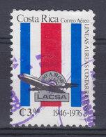 Costa Rica 1976 Mi. 960     3.00 Col Fluggesellschaft Lineas Aereas Costarricenses Flagge Flag LACSA-Emblem - Costa Rica