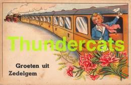 CPA GROETEN UIT ZEDELGEM TREIN TRAIN - Zedelgem