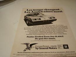ANCIENNE PUBLICITE VOITURE AMERICAN CAR DE GENERAL MOTORS PONTIAC 1979 - Advertising