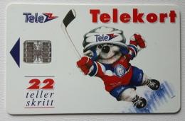 Norway N 6k  Icehockey SI7 Chip , Used - Norway