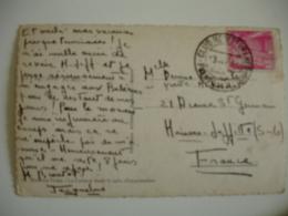 Club Mediterraneo  Puerto De La Cudia  Obliteration Sur Lettre - 1931-50 Storia Postale