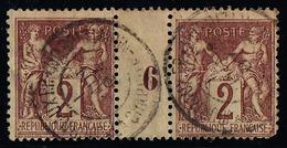 FRANCE - N°  85 OBLITERE - TYPE SAGE - 2C BRUN-ROUGE - MILLESIME 6 - OBLIT. JOURNAUX. - Millesimi