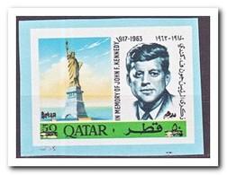 Qatar 1966, Postfris MNH, John F. Kennedy ( Imperf. With Overprint From Block ) - Qatar