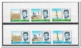 Qatar 1966, Postfris MNH, John F. Kennedy ( Imperf. With Overprint ) - Qatar