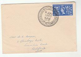 1953 WHITLEY BAY  PHILATELIC CONGRESS  Event COVER Philatelic Exhibition Stamps Royalty Coronation - Esposizioni Filateliche
