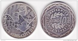 PIÈCE DE MONNAIE De 10 EURO Argent De 2010 Provence Alpes Côte D'Azur Monnaie De France -Tirage : 100 000 - (voir Scan) - France