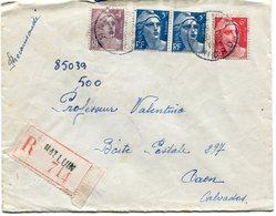 NORD DeHALLUIN  Env. Recom. De  1948 Avec Dateur  A 6 - Marcophilie (Lettres)