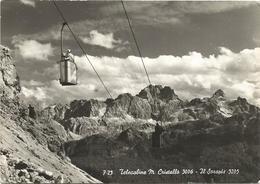X3741 Telecabine Monte Cristallo - Il Sorapis - Panorama - (Belluno) / Viaggiata 1960 - Altre Città
