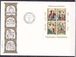 Liechtenstein/1970 - Wolfram Von Eschenbach/Minnesanger IV/Menestrels IV - Block - FDC - FDC