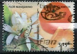 ESPAGNE SPANIEN SPAIN ESPAÑA 2014 FROM M/S GASTRONOMY 1: FLOR DE MANDARINO USED ED 4880A YV  4584 MI 4881 SG 4857A - 2011-... Afgestempeld