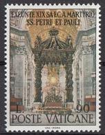 Vaticano 1967 Blf. 451 Altare Baldacchino Opera Del Bernini Basilica San Pietro Roma MNH - Kirchen U. Kathedralen