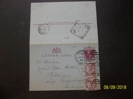 Great Britain: 1893 Letter Card To Italy (#DG5) - Stamped Stationery, Airletters & Aerogrammes