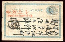 Japon - Entier Postal Circulé ( Plis ) - Postales