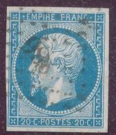 N°14 NUANCE ET OBLITERATION ( ET,OU VARIETE ) - 1853-1860 Napoleon III