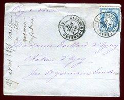 Enveloppe De Clermont Ferrand En 1876 - Marcophilie (Lettres)