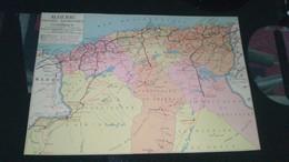 AFFICHE CARTE GEOGRAPHIQUE -  ALGERIE Politique : Touristique  Et économique - Geographical Maps