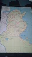 AFFICHE CARTE GEOGRAPHIQUE -  TUNISIE Politique : Touristique  Et économique - Geographical Maps