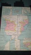 AFFICHE CARTE GEOGRAPHIQUE -  TIMOR - ANGOLA- MOZAMBIQUE - GUINEE FRANCAISE....... - Geographical Maps