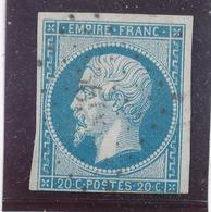 N°14 NUANCE ET OBLITERATION ( ET,OU VARIETE ) - 1853-1860 Napoléon III
