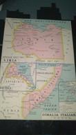AFFICHE CARTE GEOGRAPHIQUE -  SOMALIA ITALIANA : LIBIA - ERITREA - AFRIQUE EQUATORIALE FRANCAISE................. - Geographical Maps